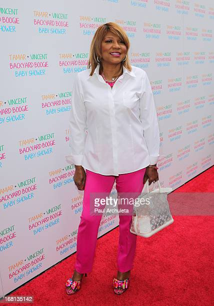 Reality TV Personality Evelyn Braxton attends Tamar Braxton's carnival themed baby shower at the Hotel BelAir on May 5 2013 in Los Angeles California