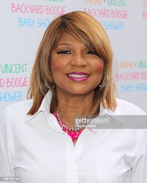 Reality TV Personality Evelyn Braxton attends Tamar Braxton's carnival themed baby shower at the Hotel Bel-Air on May 5, 2013 in Los Angeles,...