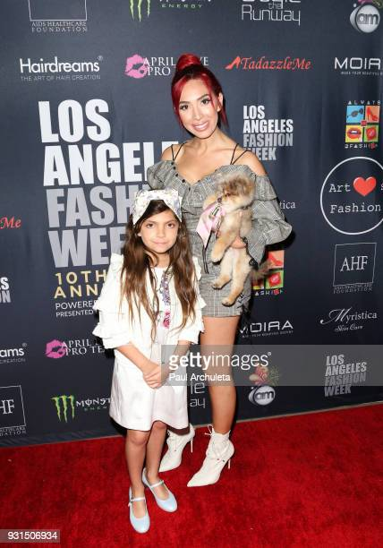 Reality TV Personality Farrah Abraham and her Daughter Sophia Laurent Abraham attend the Domingo Zapata Fashion Show at the Los Angeles Fashion Week...