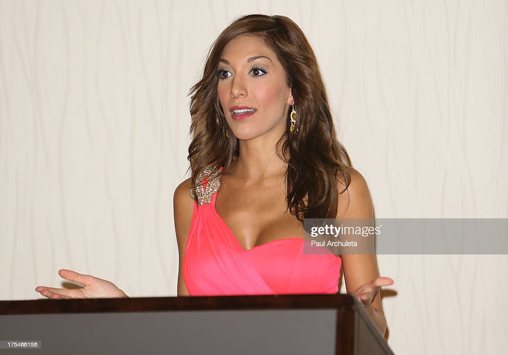 Reality TV Personality Farrah Abraham attends the 2013 EOTM Awards press conference on August 3, 2013 in West Hollywood, California.