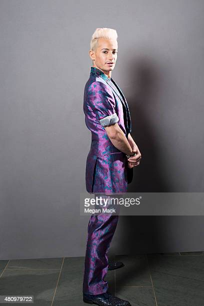 """Reality TV personality, Frankie Grande poses for a portrait at the Logo TV's """"Trailblazers"""" at the Cathedral of St. John the Divine on June 25, 2015..."""
