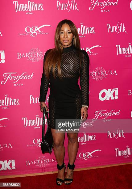 Reality TV Personality HazelE attends OK Magazine's So Sexy LA party at SkyBar at the Mondrian Los Angeles on May 18 2016 in West Hollywood California