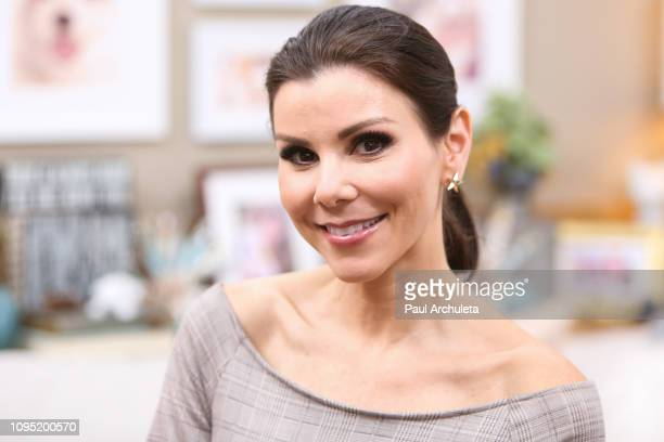 Reality TV Personality Heather Dubrow visits Hallmark's Home Family at Universal Studios Hollywood on January 16 2019 in Universal City California