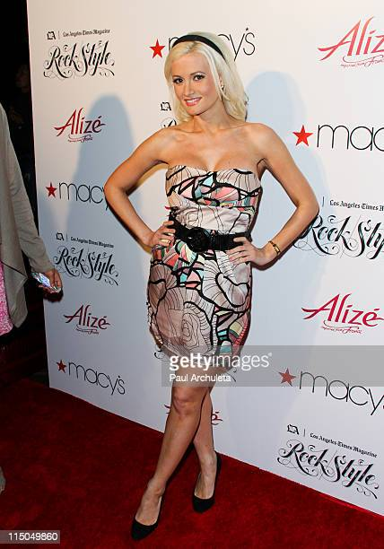 Reality TV Personality Holly Madison arrives at the Los Angeles Times Magazine's music and fashion event Rock Style at Hollywood Roosevelt Hotel on...