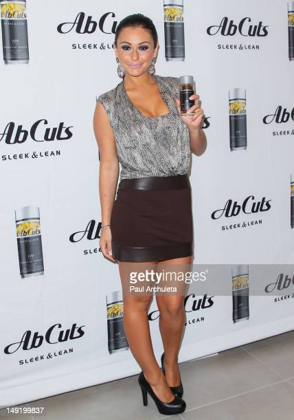 Reality TV personality Jenni JWoww Farley attends the instore promotion on behalf of Ab Cuts Sleek and Lean by Revolution at The Beverly Center on...