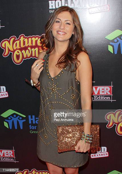 Reality TV Personality Jillian Harris arrives at ABC's Extreme Makeover Home Edition benefiting Habitat For Humanity Los Angeles on May 21 2011 in...
