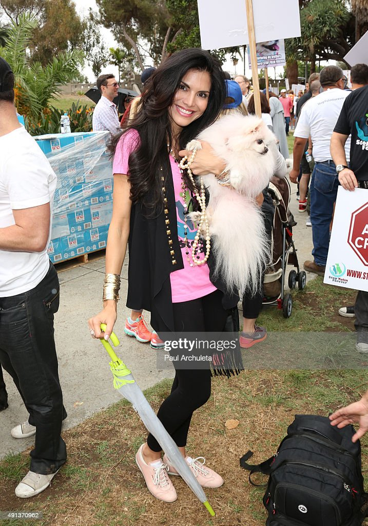 Lisa Vanderpump Along With StopYulinForever Supporters March To End Dog Cruelty In Yulin, China