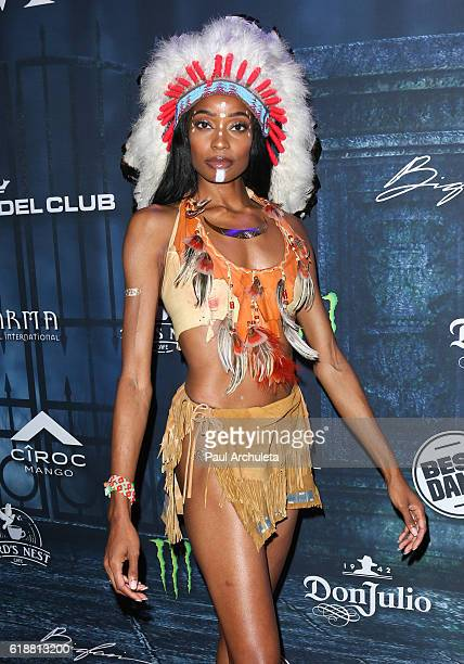 Reality TV Personality Kacey Leggett attends Maxim Magazine's annual Halloween party on October 22 2016 in Los Angeles California