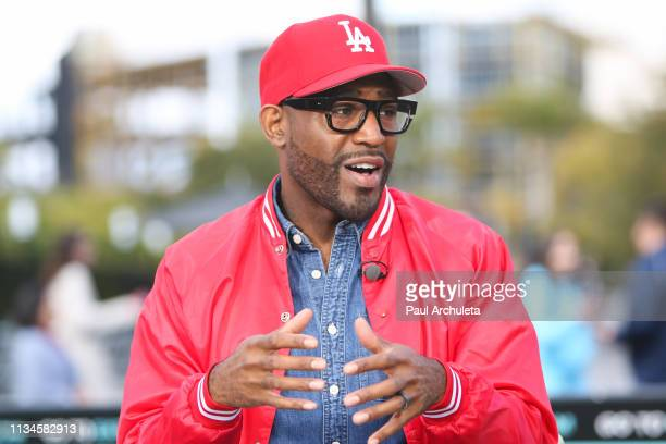 Reality TV Personality Karamo Brown visits Extra at Universal Studios Hollywood on March 08, 2019 in Universal City, California.