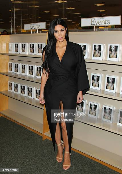 Reality TV Personality Kim Kardashian West signs copies of her new book Selfish at Barnes Noble bookstore at The Grove on May 7 2015 in Los Angeles...