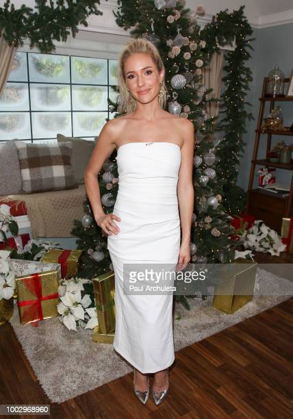 Reality TV Personality Kristin Cavallari visits Hallmark's 'Home Family' celebrating 'Christmas In July' at Universal Studios Hollywood on July 20...