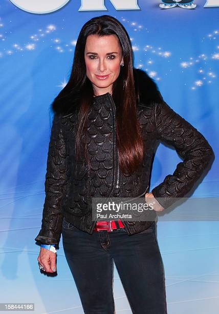 "Reality TV Personality Kyle Richards attends the Disney on ice ""Dare To Dream"" red carpet opening night at the LA Kings Holiday Ice at L.A. LIVE on..."