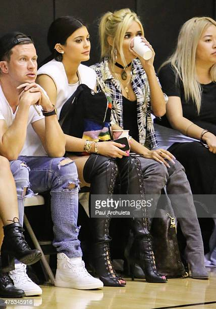 Reality TV Personality Kylie Jenner and Singer Pia Mia Perez attend the 'Celebrity Basketball Spectacular' to benefit the Sports Spectacular at...
