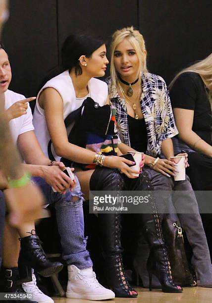 Reality TV Personality Kylie Jenner and Singer Pia Mia Perez attend the Celebrity Basketball Spectacular to benefit the Sports Spectacular at Equinox...