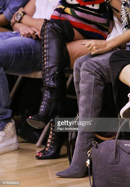 Reality TV Personality Kylie Jenner and Singer Pia Mia Perez Shoe Detail attend the Celebrity Basketball Spectacular to benefit the Sports...