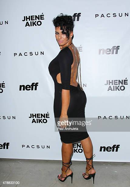 Reality TV Personality Laura Govan attends Pac Sun x Neff Headwear 'Soul Of Summer' collection launch at US Bank Tower on June 10 2015 in Los Angeles...