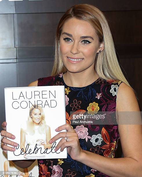 Reality TV Personality Lauren Conrad signs copies of her new book 'Celebrate' at Barnes Noble at The Grove on April 3 2016 in Los Angeles California