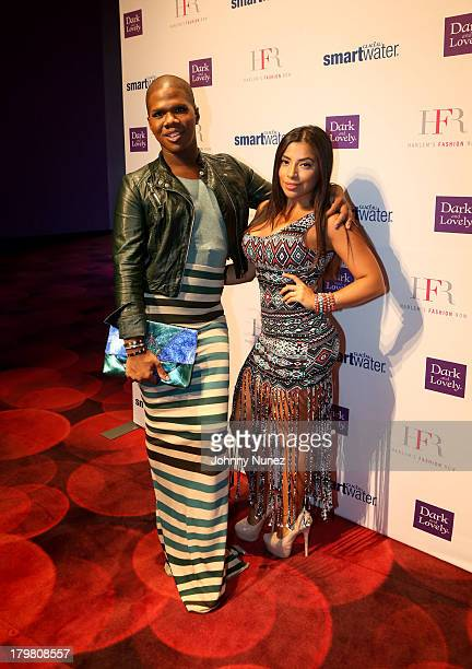 Reality TV personality Lawrence Washington and model Jessenia Vice attend the Harlem's Fashion Row show during Spring 2014 MercedesBenz Fashion Week...