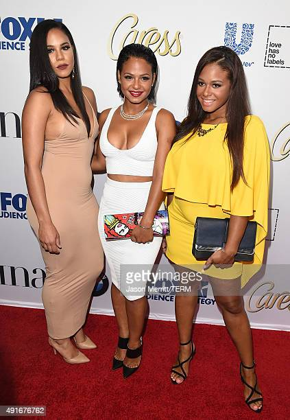 Reality TV Personality Liz Milian Christina Milian and Danielle Milian attends Latina Magazine's 'Hot List' party at The London West Hollywood on...