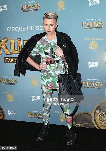 Reality TV Personality Matt Sarafa attends the opening night of Cirque Du Soleil's KuriosCabinet Of Curiosities at Dodger Stadium on December 9 2015...