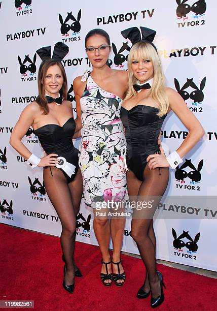 Reality TV Personality / Model Adrianne Curry arrives at Playboy TV's 'TV For 2' exclusive TCA event at The Playboy Mansion on July 27 2011 in...