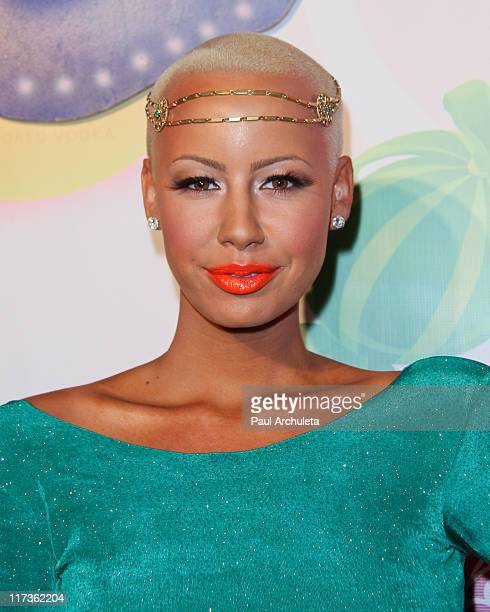 Reality TV Personality / Model Amber Rose arrives at the 6th annual Kandyland event at the Playboy Mansion at The Playboy Mansion on June 25, 2011 in...
