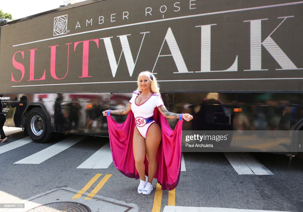 Reality TV Personality / Model Amber Rose attends the 3rd annual Amber Rose SlutWalk on October 1, 2017 in Los Angeles, California.