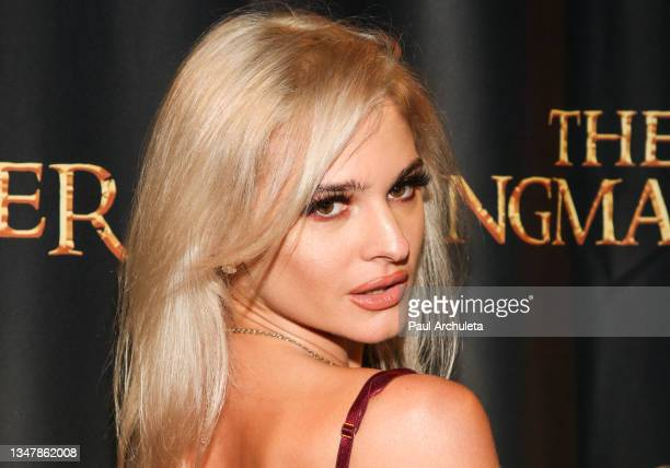 Reality TV Personality / Model Ava Capra attends the 'The Ringmaster' show + after party at Globe Theatre Los Angeles on October 20, 2021 in Los...