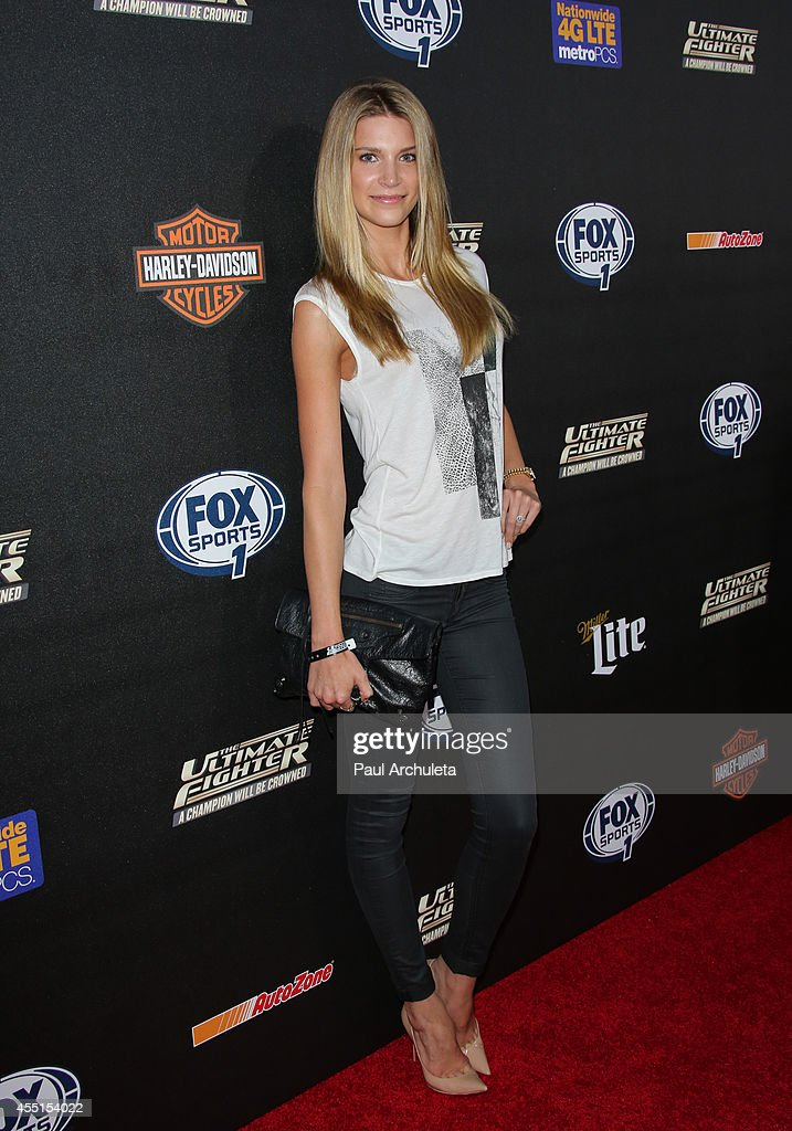 Reality TV Personality / Model Clark Gilmer attends FOX Sports 1's 'The Ultimate Fighter' season premiere party at Lure on September 9, 2014 in Hollywood, California.