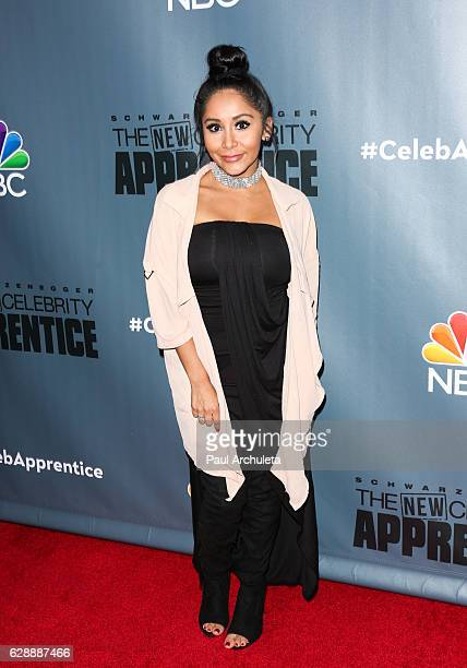 Reality TV Personality Nicole 'Snooki' Polizzi attends the QA for NBC's 'The New Celebrity Apprentice' at NBC Universal Lot on December 9 2016 in...