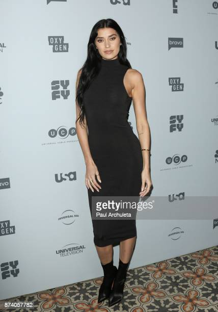 Reality TV Personality Nicole Williams attends NBCUniversal's press junket at Beauty Essex on November 13 2017 in Los Angeles California