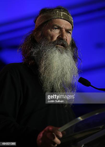 Reality TV personality Phil Robertson speaks during the 2014 Republican Leadership Conference on May 29 2014 in New Orleans Louisiana Members of the...