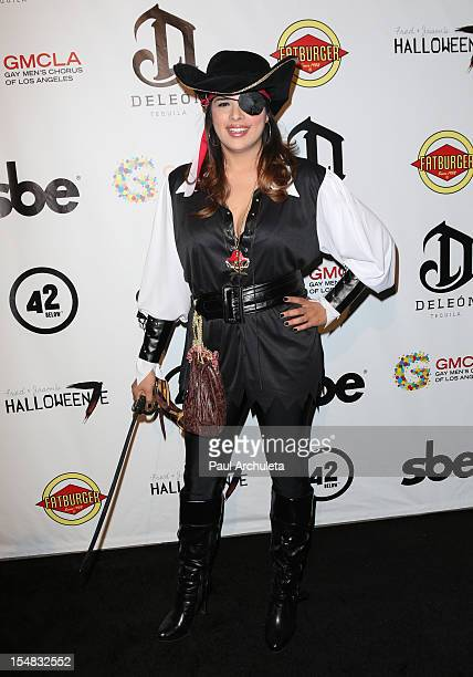 Reality TV Personality Rose Garcia attends Fred Jason's annual Halloweenie charity event at The Lot on October 26 2012 in West Hollywood California