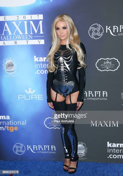 Reality TV Personality Scheana Marie attends the 2017 Maxim Halloween party at Los Angeles Center Studios on October 21 2017 in Los Angeles California