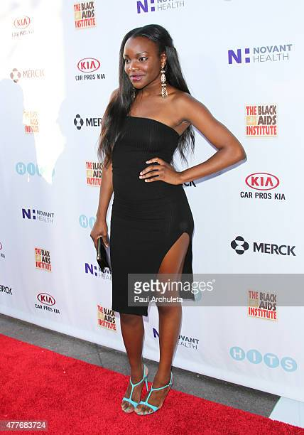 Reality TV Personality / Singer Adanna Duru attends the Black AIDS Institutes 2015 Heroes In The Struggle gala reception and awards ceremony at The...