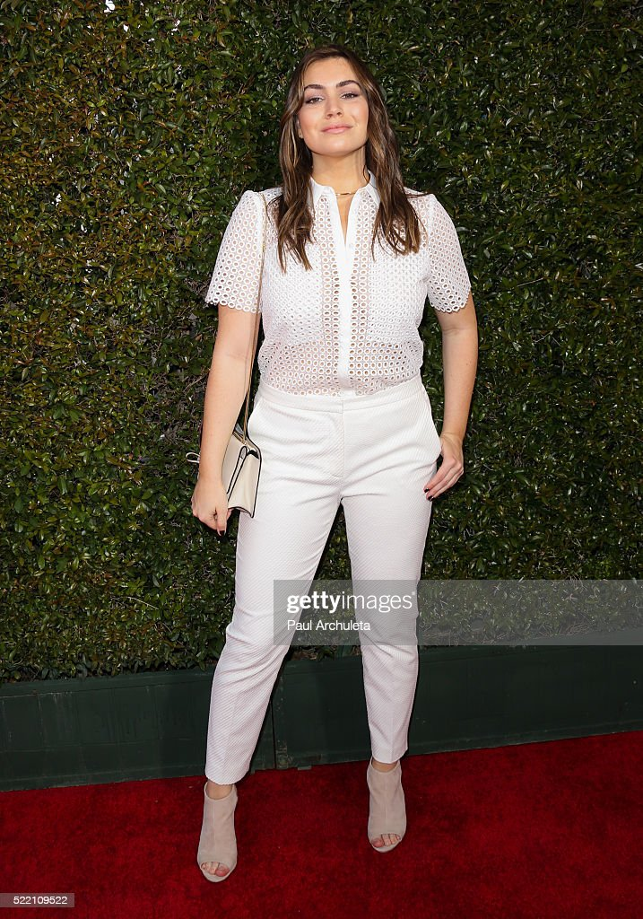Reality TV Personality Sophie Simmons attends the 13th Annual Stuart House Benefit presented by John Varvatos at John Varvatos on April 17, 2016 in Los Angeles, California.