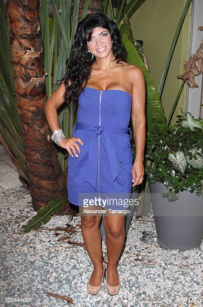 Reality TV personality Teresa Giudice signs copies of her book Skinny Italian at Books and Books on June 26 2010 in Miami Beach Florida