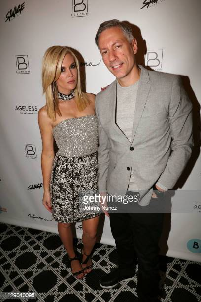 """Reality TV personality Tinsley Mortimer and entrepreneur Barry Mullineaux attend the """"Real Housewives Of New York City"""" premiere screening at Pomona..."""