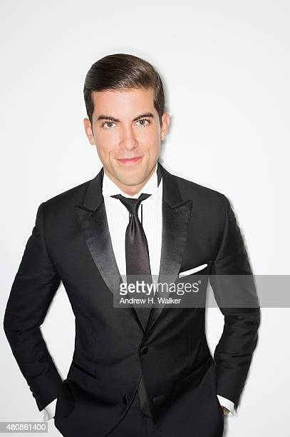 Reality TV show personality Luis D Ortiz poses for a portrait at the 2015 amfAR Inspiration Gala New York at Spring Studios on June 16 2015 in New...