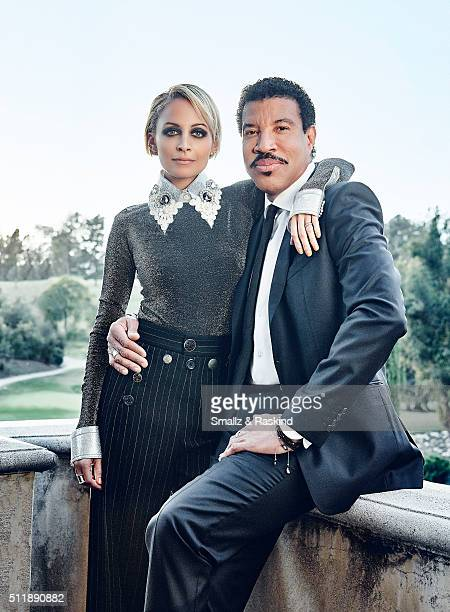 Reality TV star and fashion designer Nicole Richie is photographed with legendary musician father Lionel Richie for Legend Magazine on February 1...