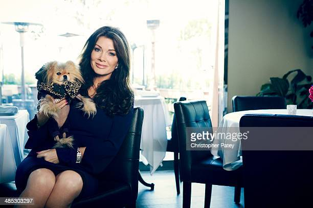 Reality TV star and restaurateur Lisa VanderPump is photographed for The Hollywood Reporter on March 21 2014 in Hollywood California