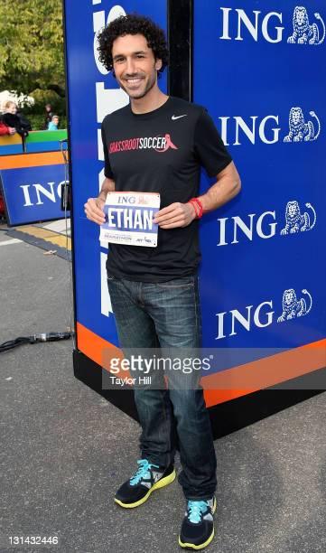 Reality TV star and Survivor champion Ethan Zohn attends the ING New York City Marathon Celebrity Runners Bib Presentation at Marathon Pavilion in...