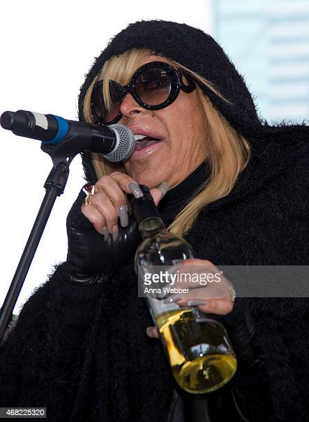 Reality TV Star Angela 'Big Ang' Raiola attends AOL's CONNECTED Celebrates The Death Of FAKE Reality TV at Times Square on March 31 2015 in New York...