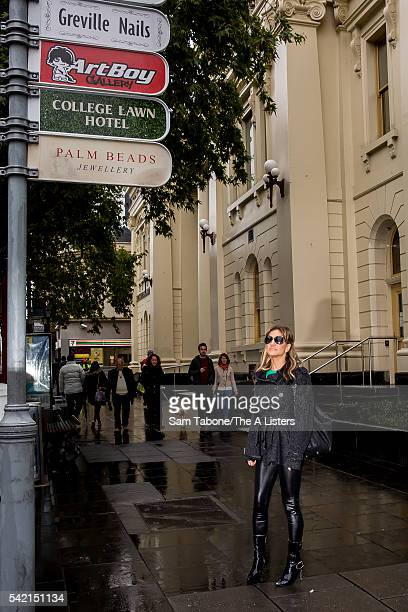 Reality TV star Brynne Edelsten is pictured going about her daily routine in a 'Day in The Life' feature shoot on June 17 2016 in Melbourne Australia