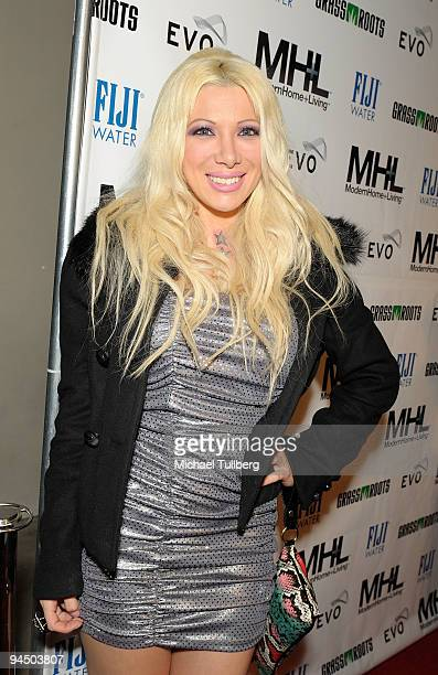 Reality TV star Daisy de la Hoya arrives at the launch party for MHL magazine held at the Boulevard3 nightclub on December 15 2009 in Los Angeles...