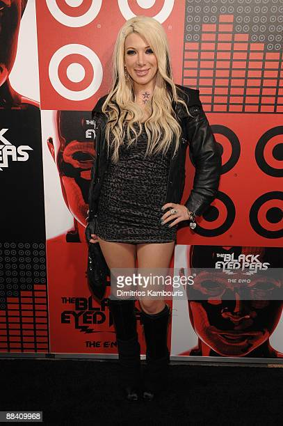 Reality TV star Daisy de la Hoya attends the official Black Eyed Peas album release party hosted by Target at The Griffin on June 10 2009 in New York...
