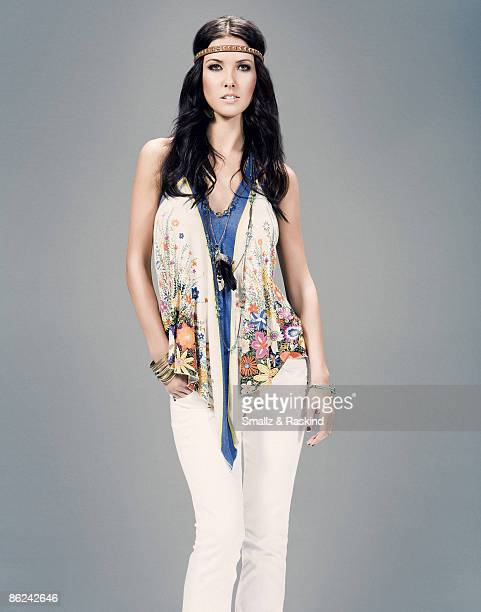 Reality TV star from THe Hills Audrina Patridge poses for a portrait session in Los Angeles for Divine Rights of Denim