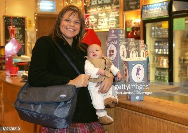 Reality TV star Jade Goody and her newborn son Freddie pose for photographers during the launch of Huggies Big Scream at Brixton Ritzy Cinema in...