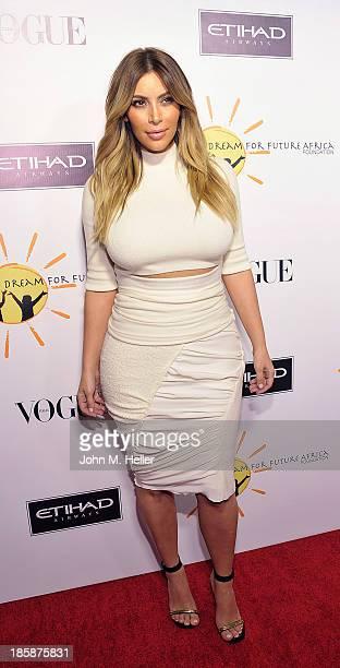 Reality TV Star Kim Kardashian attends the Dream For Future Africa Foundation's Inaugural Gala Honoring Franca Sozzani Of VOGUE Italia at Spago on...