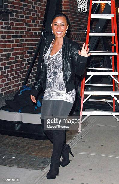 Reality TV star Nicole Hoopz Alexander visits Late Show With David Letterman at the Ed Sullivan Theater on January 4 2011 in New York City